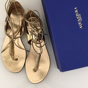 "1 HOUR SALE Aquazzura Gold Mirrored ""California"""